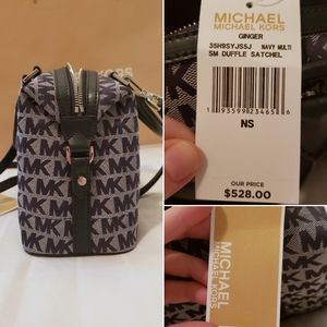 Michael Kors Bags - NWT Michael Kors Small Crossbody Satchel (navy)